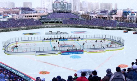 Layout for the Winter Classic (Courtesy of ChicagoBlackhawks.com)