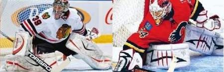 Nikolai Khabibulin and Mikka Kiprusoff have seen their share of rubber, but are they the reason the series is tied?